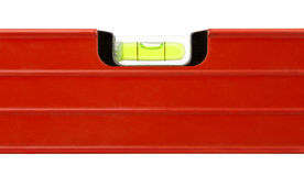 Level building red tool. Isolated on white background Royalty Free Stock Image