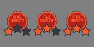 Level complete Badge Royalty Free Stock Photography