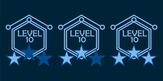 Level complete Badge Royalty Free Stock Image