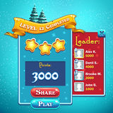 Level completed game window Stock Images