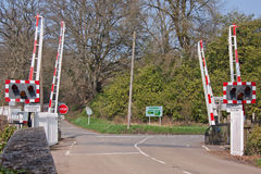Level Crossing in mid Devon UK Royalty Free Stock Photo