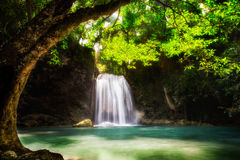 Level five of Erawan Waterfall Royalty Free Stock Images