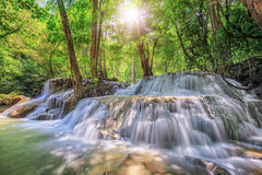 Level five of Waterfall in Kanchanaburi Stock Image