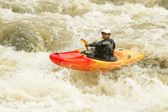 Level Five Whitewater Extreme Kayaking Royalty Free Stock Images