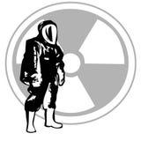 Level A Hazardous Material. Vector illustration Stock Image