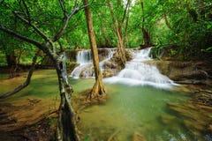 Level 7 of Huay Mae Kamin waterfall in Khuean Srinagarindra Nati Stock Photos