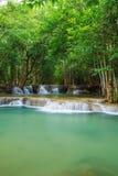 Level 2 of Huay Mae Kamin waterfall in Khuean Srinagarindra Nati Royalty Free Stock Photos