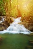 Level 7 of Huay Mae Kamin waterfall in Khuean Srinagarindra Nati Royalty Free Stock Photos