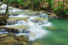 Level 1 of Huay Mae Kamin waterfall in Khuean Srinagarindra Nati Royalty Free Stock Images