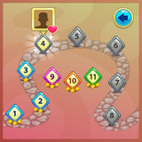 Level indicators for game ui Royalty Free Stock Photo