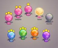 Level indicators for game ui Royalty Free Stock Image
