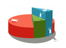 Level of life. Picture illustrated statistic diagram of business or level of life Royalty Free Stock Images