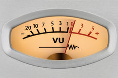 Level meter closeup Royalty Free Stock Photography