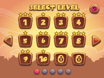 Level selection screen Stock Image