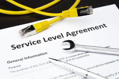 level service för överenskommelse Royaltyfria Foton