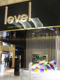 Level Shoe District at Dubai Mall in Dubai, UAE Stock Photo