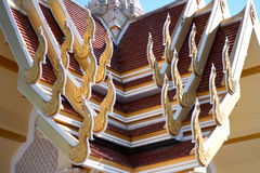 Level shot thai temple in Thailand Royalty Free Stock Images