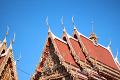 Level shot thai temple in Thailand Royalty Free Stock Image