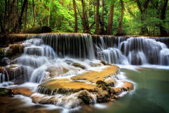Level six of Huai Mae Kamin Waterfall Stock Image