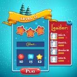 Level start game window Royalty Free Stock Photo