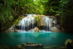Level two of Erawan Waterfall Stock Images