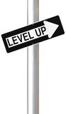 Level Up. Conceptual one way street sign indicating Level Up Stock Photography