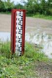 level vatten för indikator arkivfoto