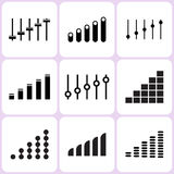 Level and Volume Icons Royalty Free Stock Photography