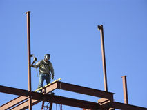 Leveling. A beam in high rise construction Stock Image