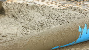 Leveling Fresh Concrete stock footage