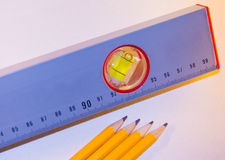 Leveling measuring Stock Photo