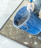 Before leveling into a mold Stock Photography