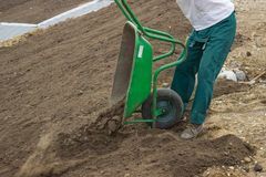 Leveling Work, Soil and Site Preparation for Lawns 2 Stock Photography