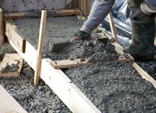 Levelling concrete Royalty Free Stock Images