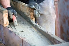 Levelling concrete Royalty Free Stock Photo