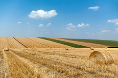 Levels with bales Royalty Free Stock Photography