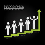 Levels infographics. Over black background vector illustration Royalty Free Stock Image