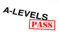 A-Levels Pass stock photos