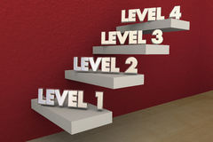Levels Steps Stairs 1 to 4 Rising Climbing Higher Stock Photos