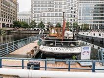Leven ресторан Strijd на канереечном причале, районах доков, Лондоне Стоковая Фотография RF