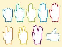 Leven-handen (vector) stock illustratie