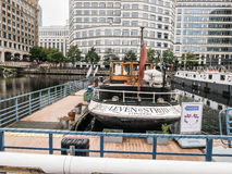 Leven is Strijd-restaurant in Canary Wharf, Docklands, Londen Royalty-vrije Stock Fotografie