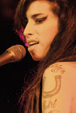 Levend presteren van Amy Winehouse stock afbeelding