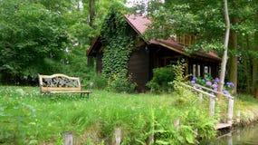 Levend in Spreewald, Duitsland Stock Foto