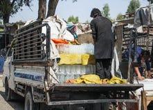 Levende het dorp van Afghanistan en schoten in Jalalabad in het midden het vechten seizoen royalty-vrije stock afbeeldingen