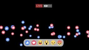 Levende het scherminterface van Facebook royalty-vrije illustratie