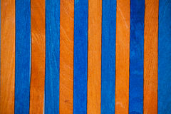 Levendig blauw oranje kleuren houten close-up als achtergrond royalty-vrije illustratie