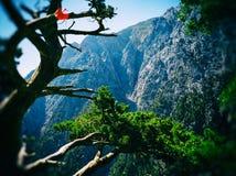 Levendig de filmaftasten van het berglandschap Royalty-vrije Stock Fotografie