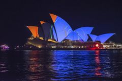 Levendig Festival, Sydney Opera House, Australië stock afbeelding