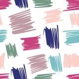 Levendig geometrisch chaotisch lijnen naadloos patroon Abstracte bont achtergronden uit de vrije hand royalty-vrije illustratie